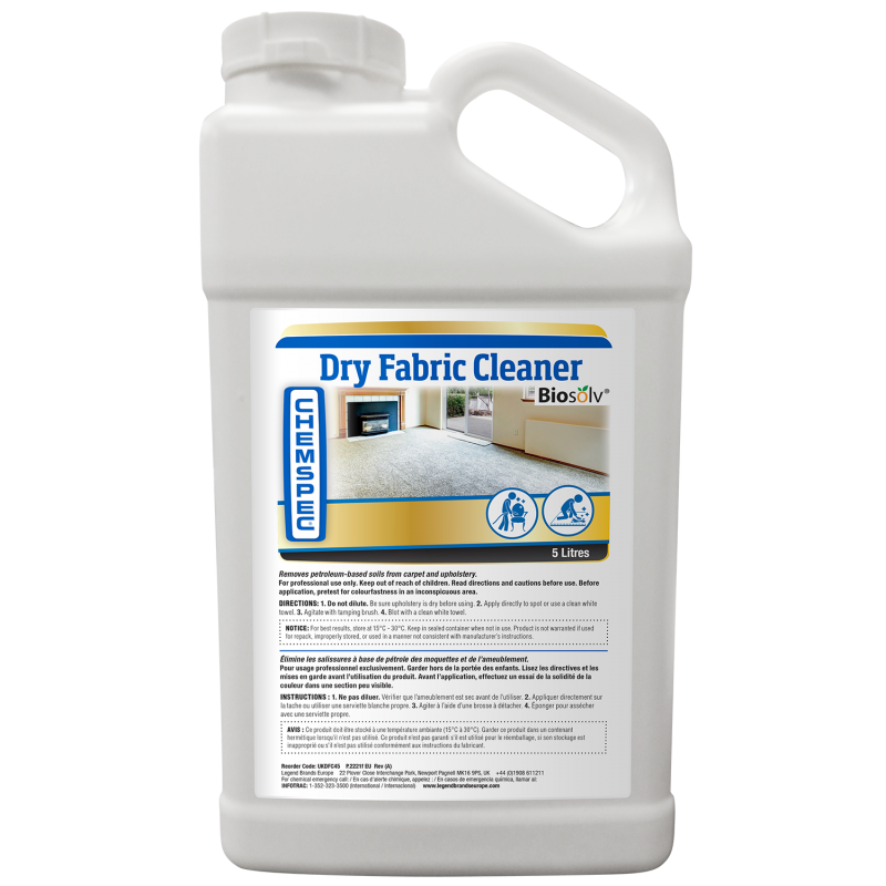 Chemspec Dry Fabric Cleaner 4 x 5 Litres