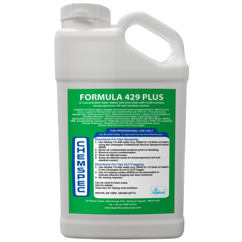 Formula 429 Plus - 5 Litres  £73.75     ( £1.48 PER LITRE WHEN MIXED READY TO USE)
