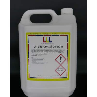CRYSTAL DE-STAIN-  De-staining additive 2 x 5 Litres @ £19.13 each