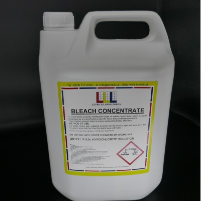 BLEACH CONCENTRATE 15% - cleaner and disinfectant 6 x 1 Litres @ £3.30