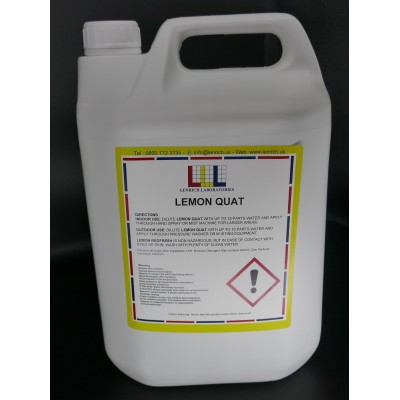 LEMON QUAT- Industrial Strength disinfectant 5 Litres