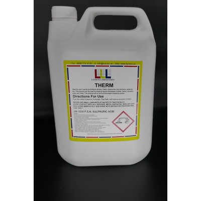 THERM – Industrial fast acting drain cleaner 6  x  1 Litre @ £13.80