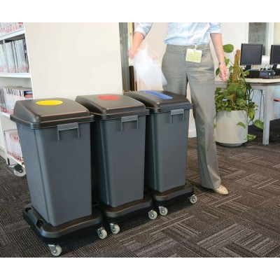 3 x Recycling Bins 60 Litre