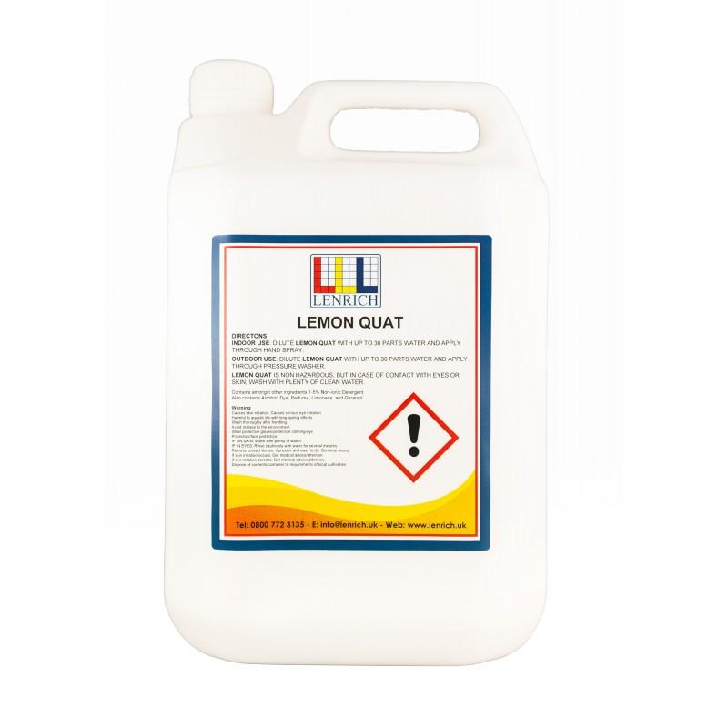 LEMON QUAT- Industrial Strength disinfectant 4 x 5 Litres
